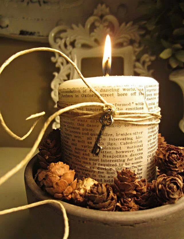 Candle - All wrapped up & pretty
