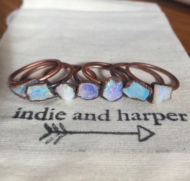 THEY ARE BACK || Australian Raw Opal and Copper Rings || Available in our RAW Collection