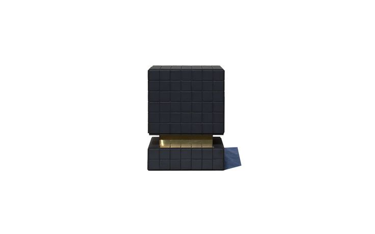 "$2,100.00 BT II, 2016  Brass | Tile | Wood  W 14"" × D 14"" × H 18"" in  W 35 × D 35 × H 45 cm  1/2"" mdf + 1/16"" brass sheet + black matte ceramic tiles + black grout"