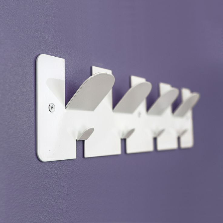White coat rack with 4 x 2 hooks - Made in Greater London, UK  http://www.madecloser.co.uk/home-garden/homeware-and-furniture/home-accessories/comb-coat-rack-racks-hanger-hooks