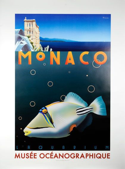 Musee Oceanographique Monaco by Razzia rare signed #Vintage