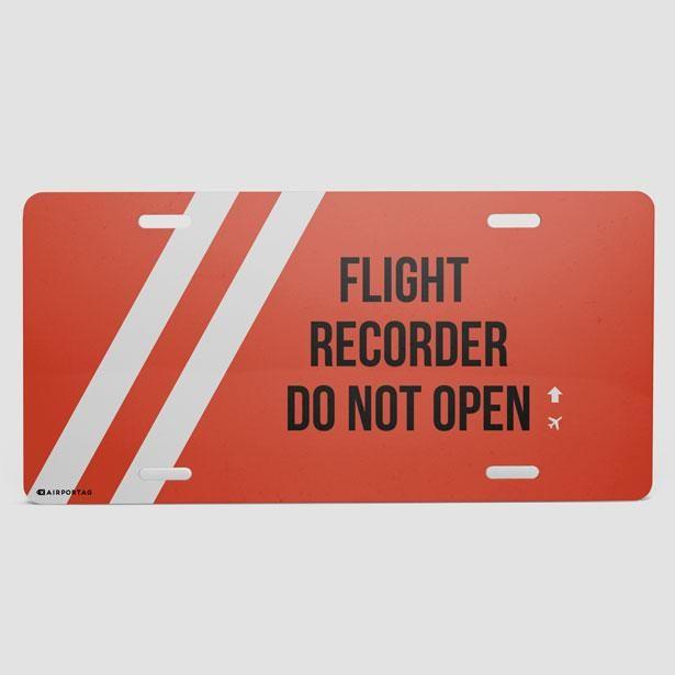 Flight Recorder - License Plate