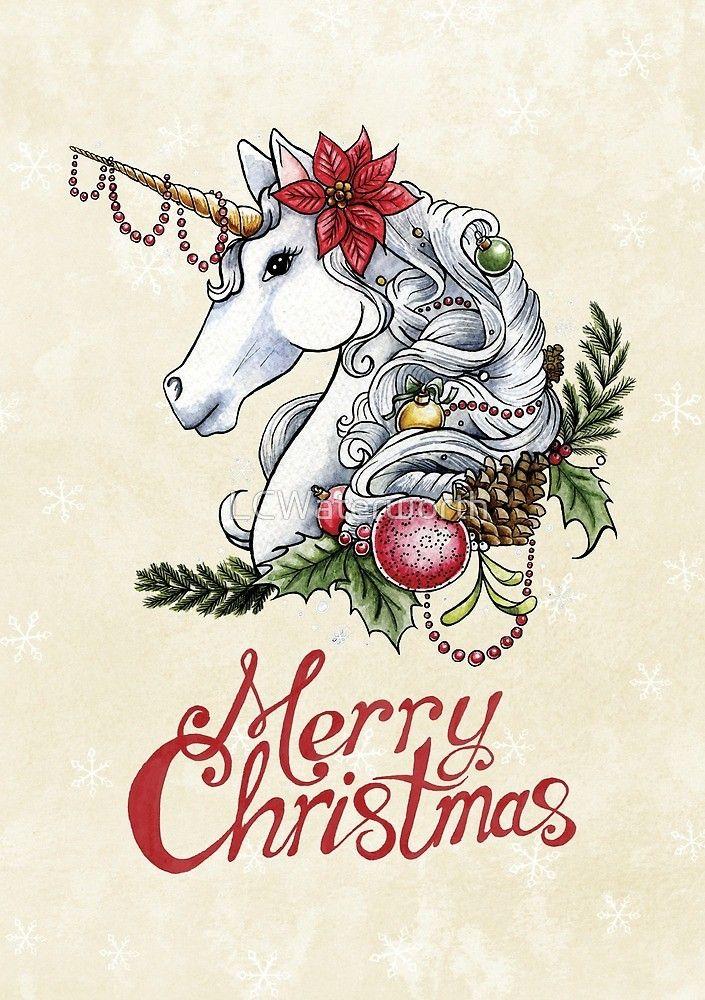 Christmas Unicorn Unicorn Illustration Unicorn Wallpaper Christmas Unicorn