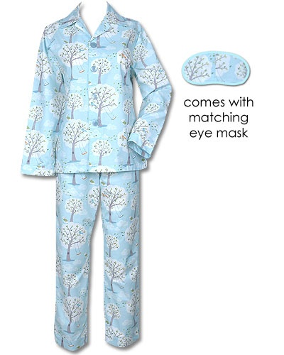 blue windy morning poplin pajama