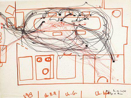 Cartes et lignes d'erre : Traces du réseau, Fernand Deligny, 1969-1979 © DR - Fernand Deligny