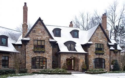 Get the look tudor style traditional home steep roofs for Traditional english home