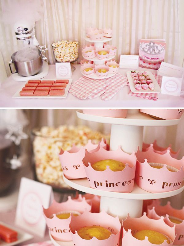 pink-princess-cooking-party-dessert-table