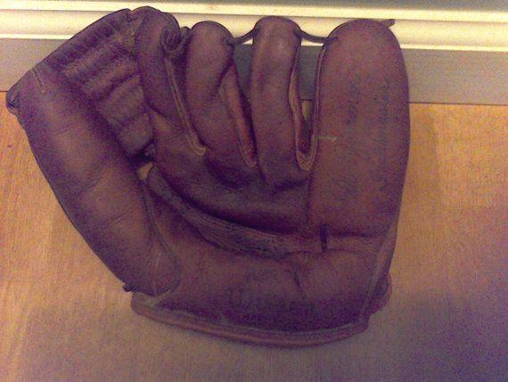 Vintage Baseball Gloveleather baseball by VintageJunkGypsyShop