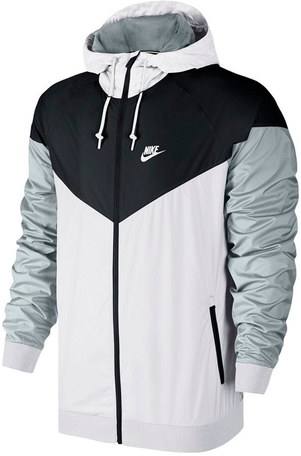 Nike Nike Men's Windrunner Colorblocked Jacket A colorblocked design gives the classic Nike Windrunner a fresh look, but with the same lightweight feel that's great for running or weekends.