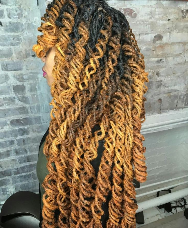 Beautiful Loc Style Style by @nappstar_nya