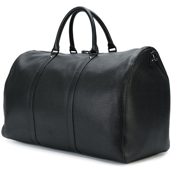 Valentino Valentino Garavani classic holdall (3,390,670 KRW) ❤ liked on Polyvore featuring men's fashion, men's bags, mens holdall bag and mens leather bag
