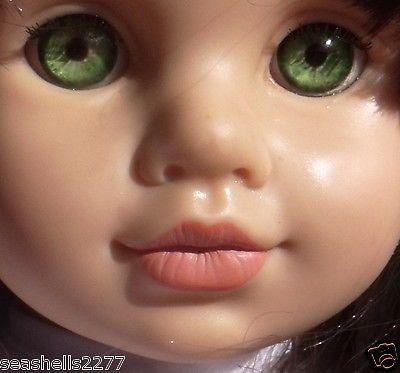 awesome UNIMAX doll 1996 dark brown hair bright green eyes ...