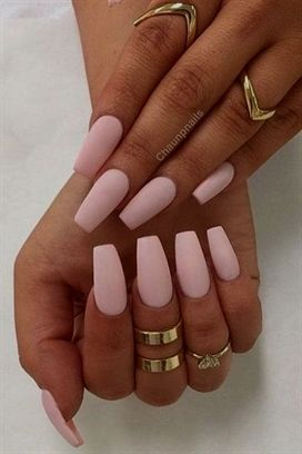 c6deb22a7a Pink + matte + coffin shaped = Matchmade in Mani Heaven #AcrylicNailsCoffin
