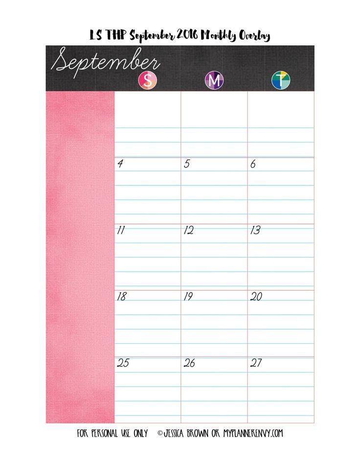 LS of the Regular Happy Planner September 2016 Monthly Overlay on myplannerenvy.com
