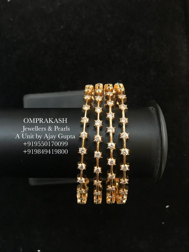 Stunning Close Setting Diamond Bangles!!An always Desired Evergreen Design...Internationally  Certified Top Quality VVS-EF Diamonds used. 22… c7201209c2a8