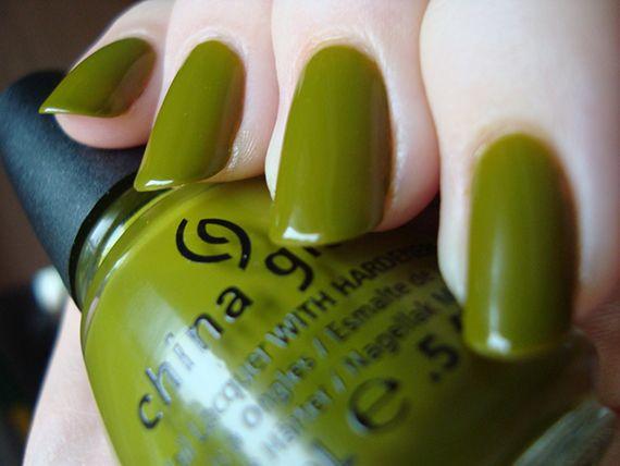 Fotos de uñas color verde #green #nails #uñas #verde