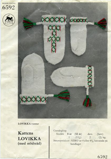 Old Lovikka pattern posted by the beautiful blog A Fine Little Day