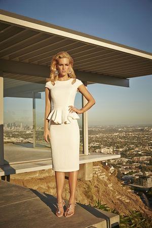 Vestido Midi Jacquard Peplum Off White - roupas-vestidos-iorane-f-vestido-midi-jacquard-peplum-off-white Iorane