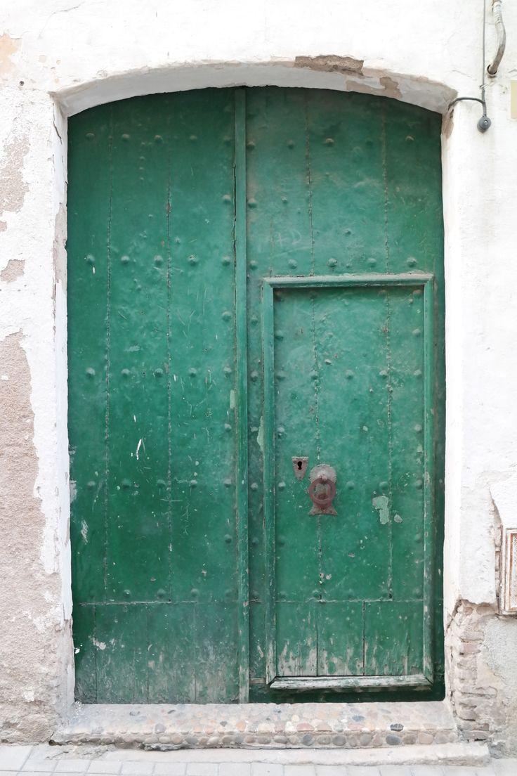 Groene franse deur