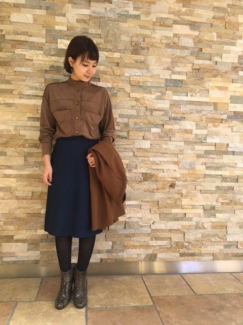 【恵比寿店】デニム見えするカラーが新鮮な台形スカート