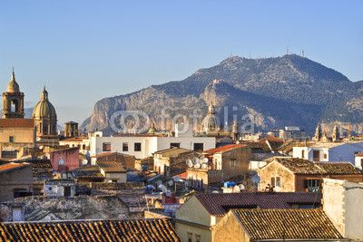 View of Palermo with roofs