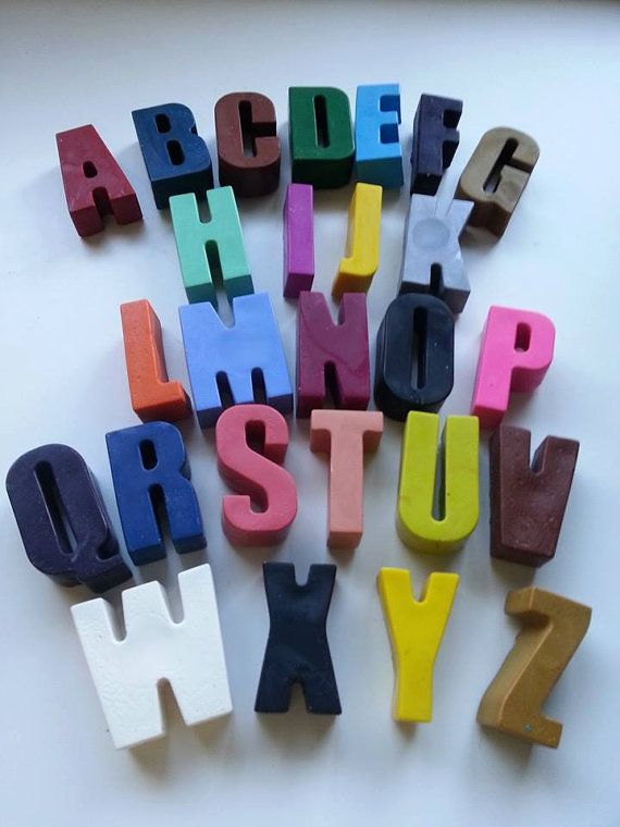 The whole alphabet in big chunky Funky Crayons. Help to spell out words, names, and emphasise the sound of each letter at homework time or just colouring time.  http://www.marketdirect.ie/capital-letter-shaped-crayons