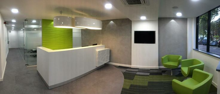 Organic # reception desk Project in London by GXI Group