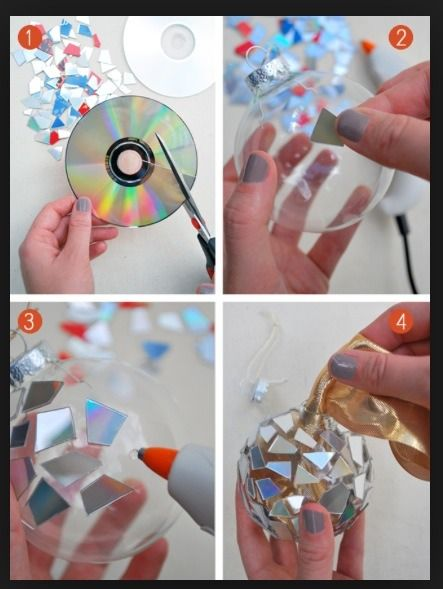 You Can Make Christmas Ornaments From Old CDs