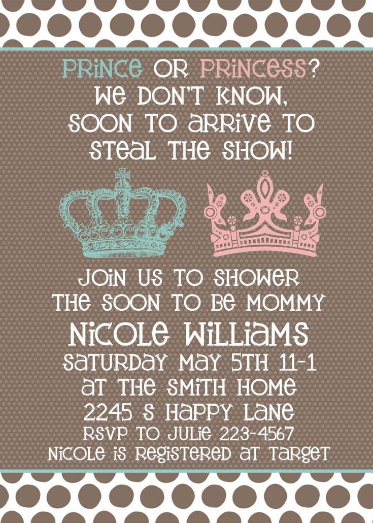 Baby Shower invitation Neutral Gender Unknown
