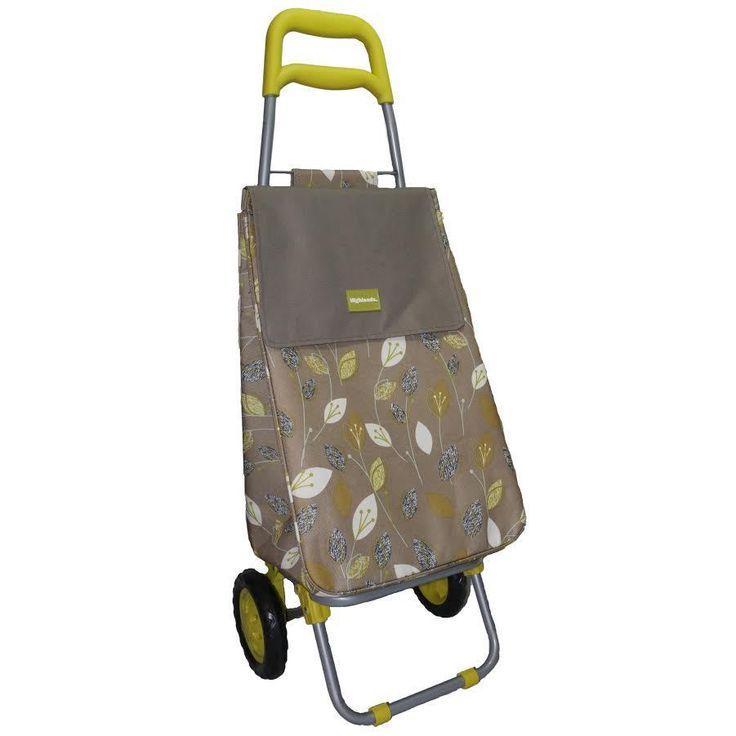 Large Shopping Trolley Lightweight Folding Pull Cart Shopper Cooling Bag Camping #Highlands