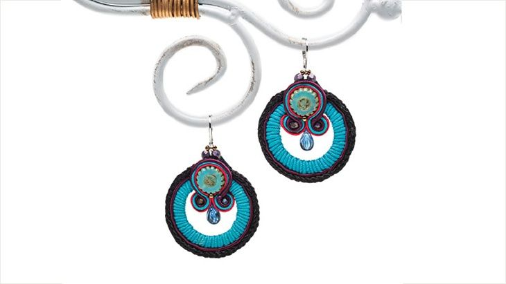 Coastal Flair Soutache Earrings DIY from Facet Jewelry