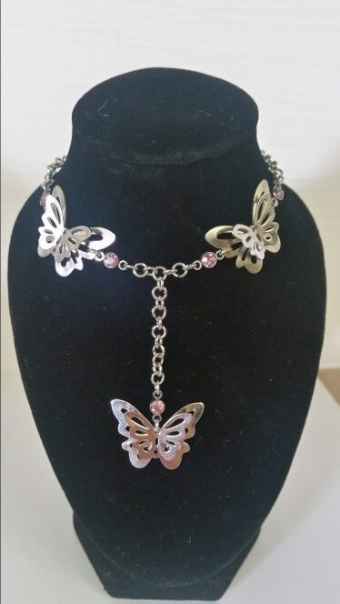 Butterflies with pink rhinestones. AUS $18.95