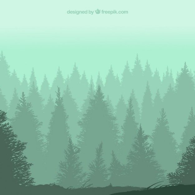 Forest silhouettes Free Vector