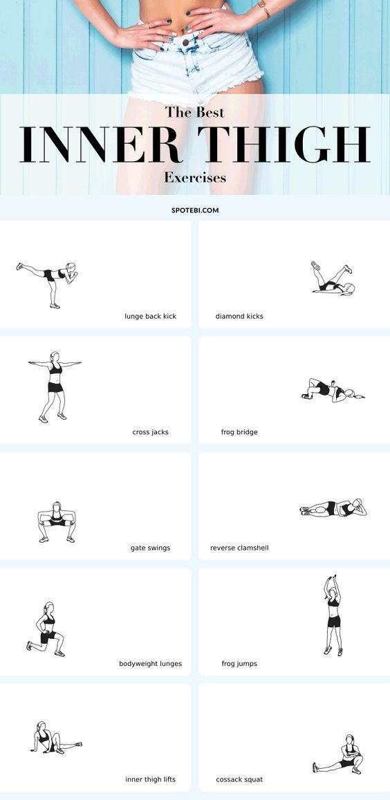 The best exercises to slim down, sculpt and tighten your inner thighs! Slim inner thighs aren't built in a day. It takes a lot of cardio, all the right moves and the perfect amount of persistence to get strong, fit thighs that look fabulous! Show you