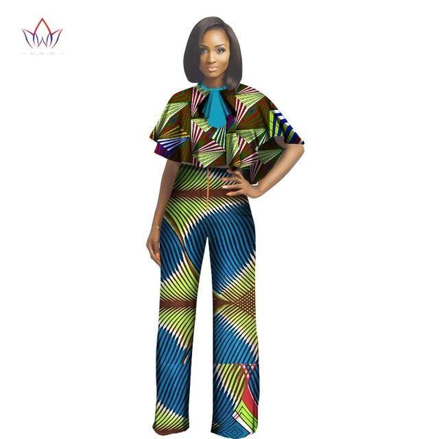 b05cc108b2b African Dashiki For Women Top And Pants Set Women Suit Traditional African  Clothing Print Dashiki cotton Set natural WY1406