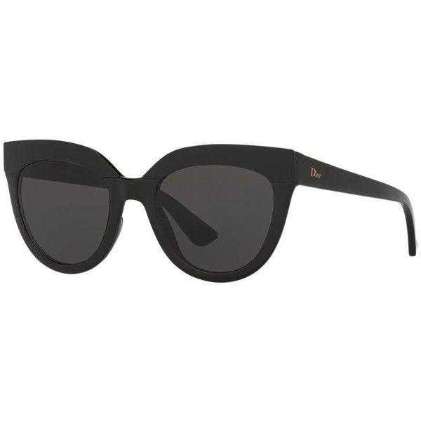 Dior Soft 1 51 Black Cat Sunglasses ($355) ❤ lik…