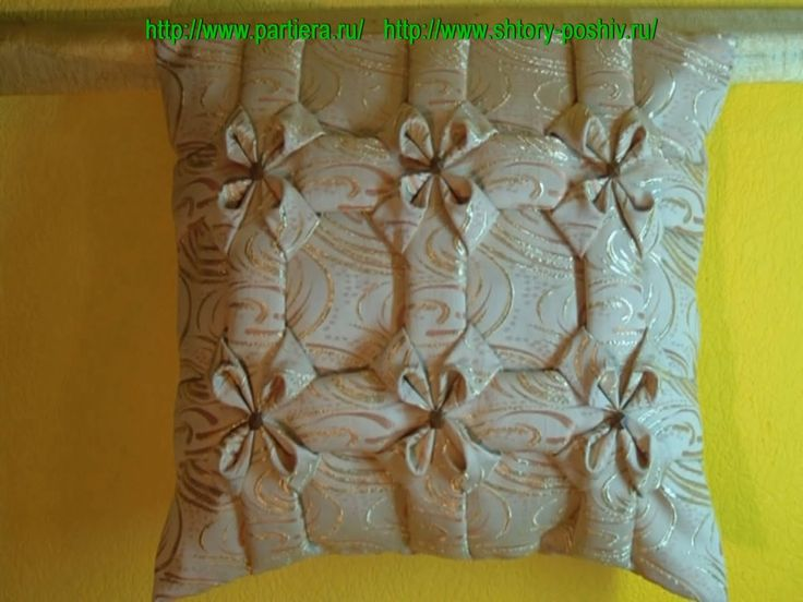 Декоративная подушка буфы схема Квадрат 2.