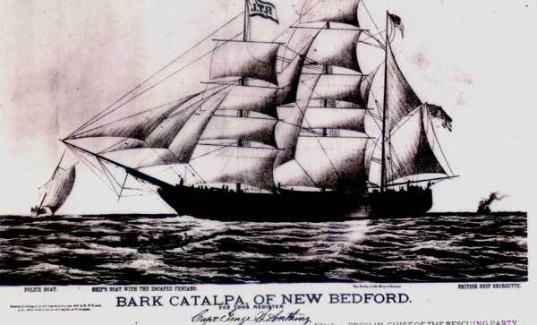 In 1865-1867 British authorities arrest supporters of the Fenian Brotherhood in Ireland and transport many to the penal colony in Australia. The 'Catalpa rescue' is the 1876 escape of six Fenian prisoners from the Australian Fremantle penal colony.