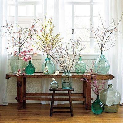 Mode... d'intérieur transparent, verre et vert