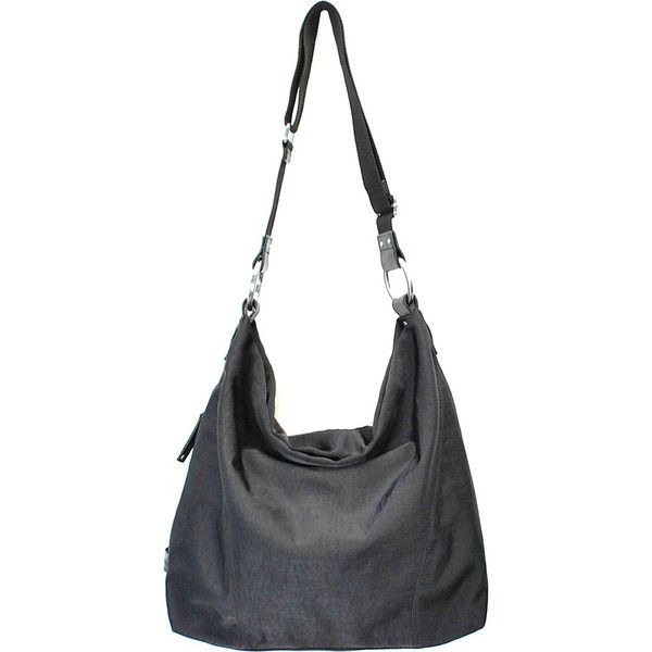 Ellington Handbags Mia Hobo Hobo ($120) ❤ liked on Polyvore featuring bags, handbags, shoulder bags, black, fabric handbags, ellington, zipper handbag, hand bags, hobo handbags purses and handbags shoulder bags