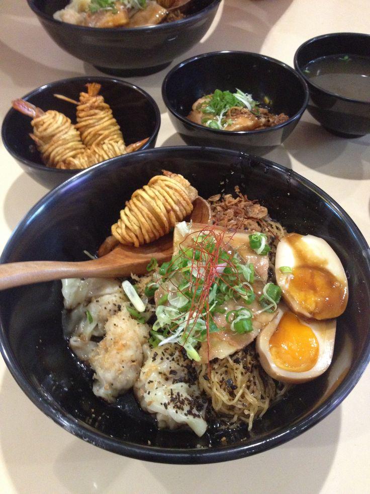 'Singapore style' ramen; A fusion of HK wanton mee and Japanese ramen