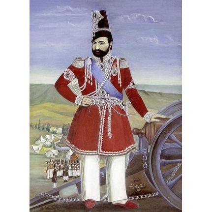 Portrait Of Muhammad Shah by Muhammad Hasan Afshar Historical Art Print