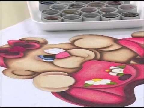 """Programa Arte Brasil - 03/03/2015 - Luciano Menezes - Pintura Country em Tecido """"Ursa Bela"""" - YouTube"""