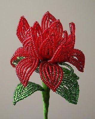 Little Red Birds Blog: Friday Flowers: French Beaded Flowers