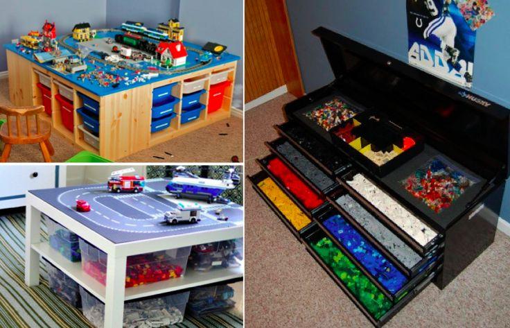 81 best am nager d corer son logement pour les enfants images on pinterest - Boites rangement lego ...