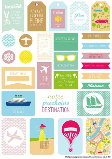 Freebie | Printable Travel Themed Labels in French
