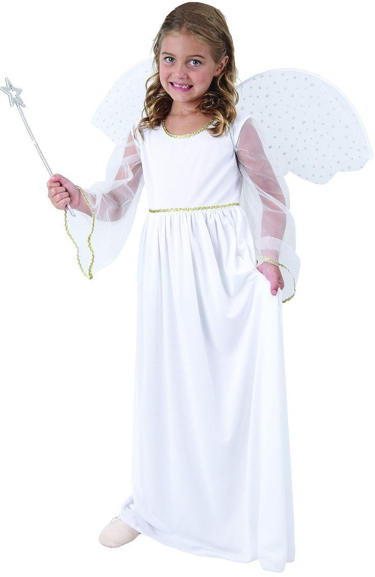 Disfraz ángel blanco niña