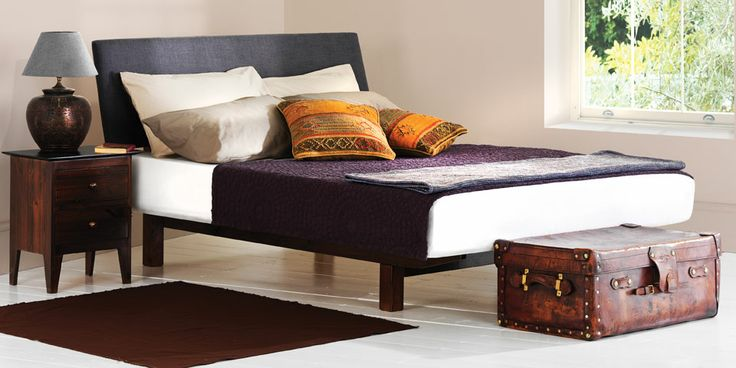Cayman bed. A simple large headboard available in 9 beautiful fabrics.
