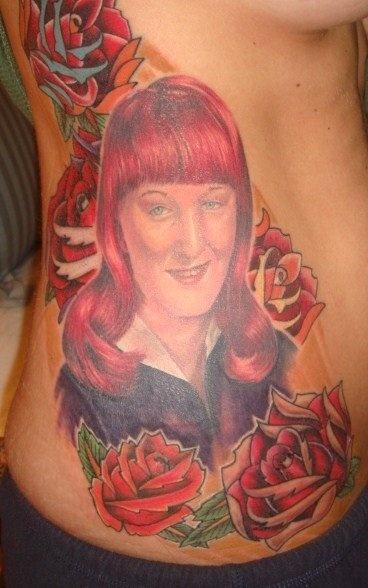 Ink Tattoo Portrait Mom Roses Hope  Tattoos Pinterest
