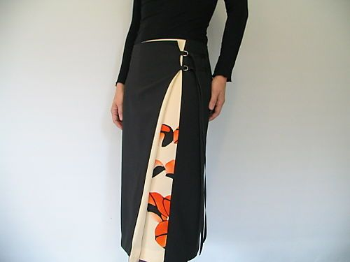 antique kimono ribbon wrap skirt  Via assemblage